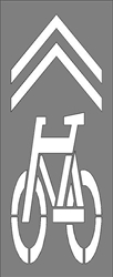 "BIKE LANE SYMBOL/CHEVRONS 107""HX39""W 1/16 PLASTIC"