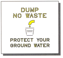 "DUMP NO WASTE - 24"" x 24"" - 1/16"" THICK"