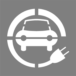 "39"" ELECTRIC CAR STENCIL - 1/8"" PLASTIC"