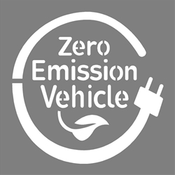 "ZERO EMISSION VEHICLE - 42""x42"" - 1/16"" PLASTIC"