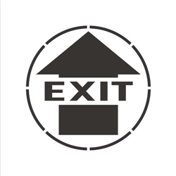 EXIT (WITH ARROW)