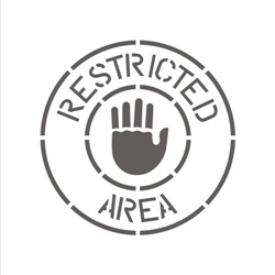 RESTRICTED AREA (WITH HAND)