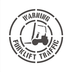 "36"" WARNING - FORKLIFT TRAFFIC"