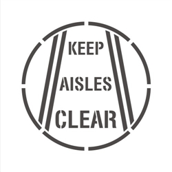"36"" KEEP AISLES CLEAR"