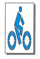 "BICYCLE LANE SYMBOL - 6'6""Tx3'8""W - 1/16"" THICK PLASTIC"