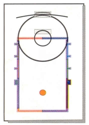 "COMPLETE BASKETBALL COURT KIT - 1/16"" THICK PLASTIC"