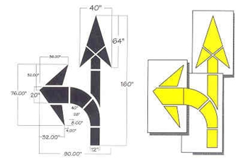 "COMBO ARROW KIT - HIGHWAY INTERSECTION-13' 4"" OAL, 3 PIECES - 1/8"" THICK PLASTIC"