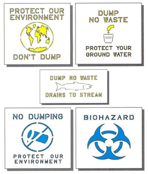 "ENVIRONMENTAL HEALTH STENCIL KIT - 24"" x 24"" - 1/16"" THICK"