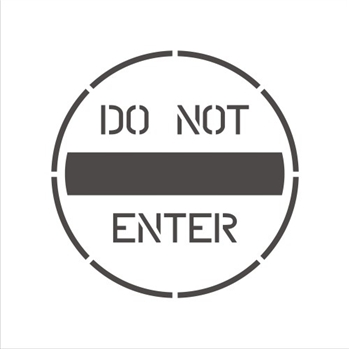 DO NOT ENTER (WITH BAR)