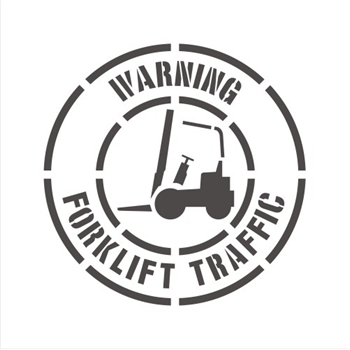 "36"" WARNING FORKLIFT TRAFFIC"