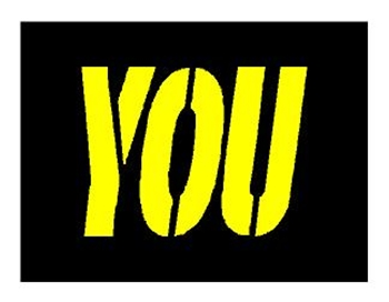 "McDONALDS 34"" YOU STENCIL - 1/8 INCH PLASTIC"
