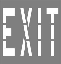 36 INCH WORDING - EXIT - 1/16 INCH PLASTIC