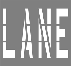 36 INCH WORDING - LANE - 1/8 INCH PLASTIC