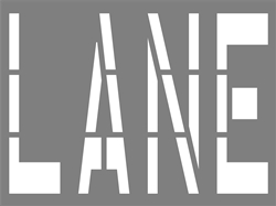 42 INCH WORDING - LANE - 1/16 INCH PLASTIC