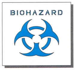 "BIOHAZARD - 24"" x 24"" - 1/16"" THICK"