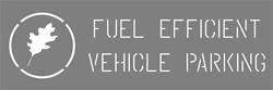 "4"" FUEL EFFICIENT WORDING WITH GRAPHIC - 20""x60"" - 1/8"" PLASTIC"