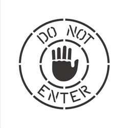 DO NOT ENTER (WITH HAND)