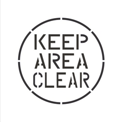 KEEP AREA CLEAR