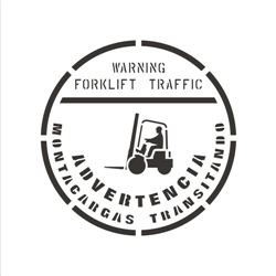 WARNING - FORKLIFT TRAFFIC - BILINGUAL