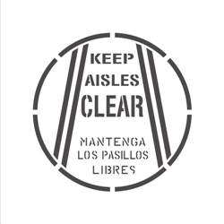 KEEP AISLES CLEAR - (BILINGUAL)