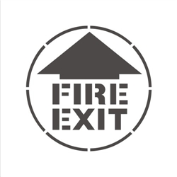 FIRE EXIT (WITH ARROW)