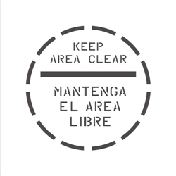 KEEP AREA CLEAR (BILINGAUL WITH BAR)