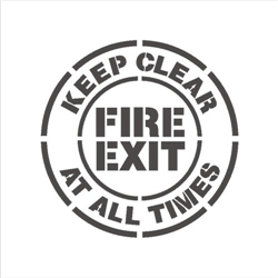 FIRE EXIT - KEEP CLEAR AT ALL TIMES