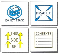 "SHIPPING STENCIL SET - 8"" x 8"" - ALL 1/16"" THICK PLASTIC"
