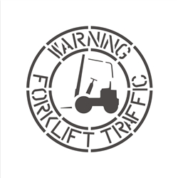 WARNING - FORKLIFT TRAFFIC
