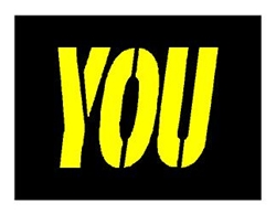 "McDONALDS 34"" YOU STENCIL - 1/16 INCH PLASTIC"