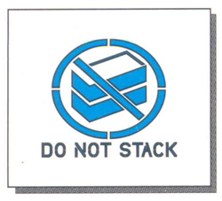 "DO NOT STACK - 8"" x 8"" - 1/16"" THICK PLASTIC"