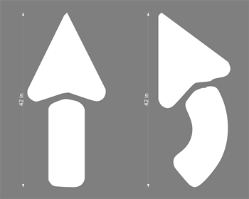 "STANDARD ARROW KIT - 2 PIECES, 42"" OAL - 1/8"" THICK PLASTIC"