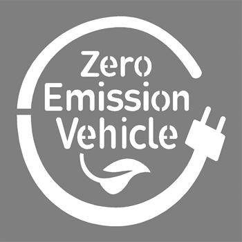 "ZERO EMISSION VEHICLE - 42""x42"" - 1/8"" PLASTIC"