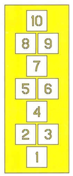 "HOPSCOTCH KIT - 7'6""T x 2'w - 1/16"" THICK PLASTIC"